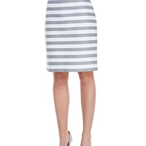 Kate Spade Gray and White Stripped Skirt